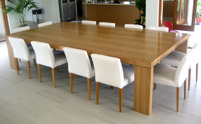 table using custom joinery