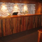 Custom built joinery bar