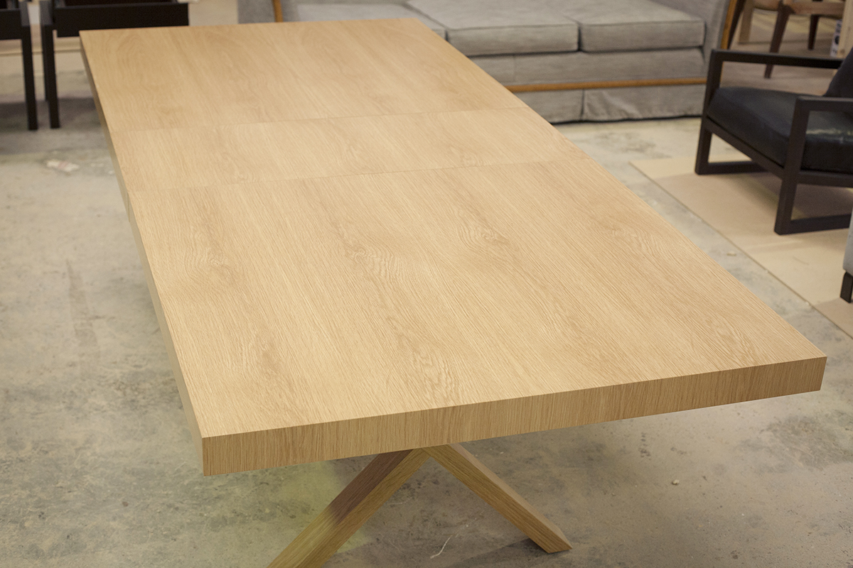 this beautiful dining room table is extendable to 2 6metres with a